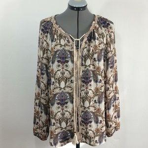 Anthropologie Meadow Rue Peasant blouse-Sz M